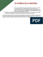 Estructura de La Materia y Estructura Atomica