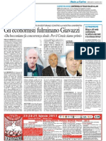 Gli economisti fulminano Giavazzi - Il Resto del Carlino del 21 agosto 2013