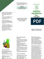 Brochure, Understanding Flavours Version 2