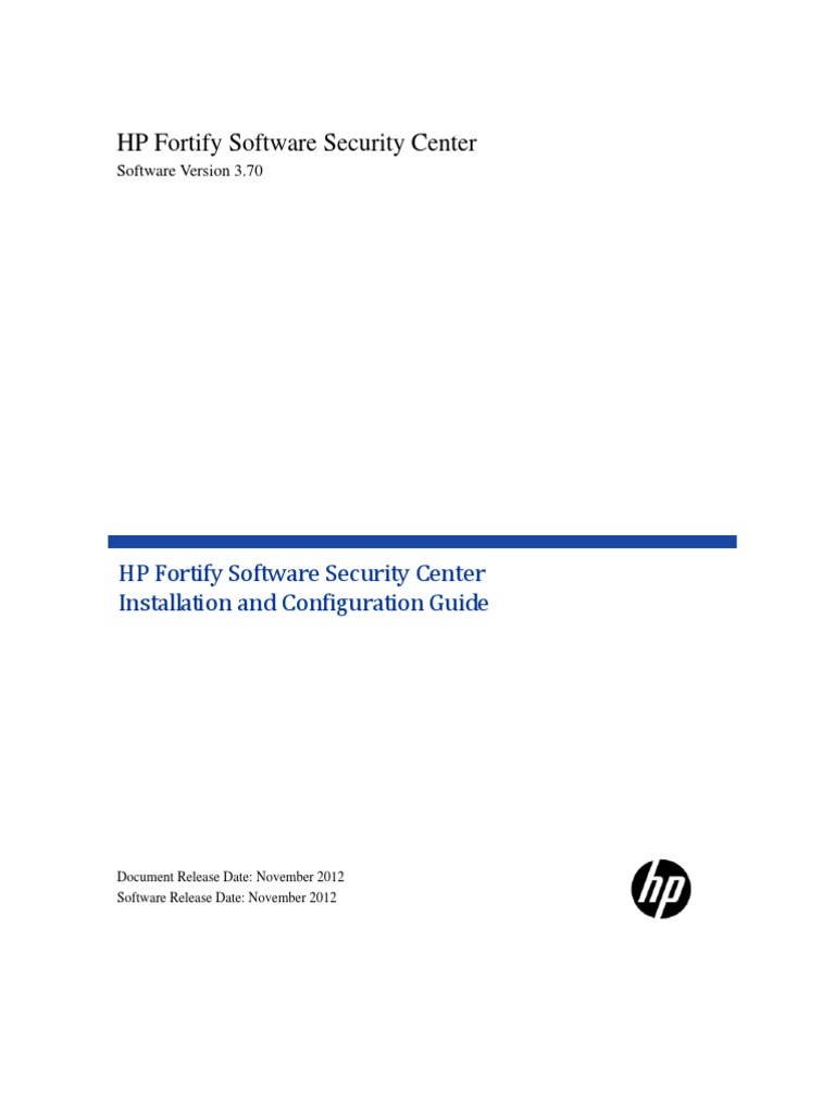 HP Fortify SSC Install And Config Guide 3.70 | Http Cookie | Transport  Layer Security