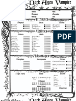 DarkAges Vampire V20 4-Page Interactive
