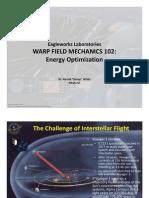 Warp Field Mechanics 102