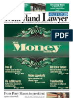 "Maryland Lawyer ""Money"" Issue"