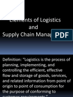 Elements of Logistics