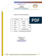 Light Burnt Magnesia Ball - Chemical Products Specification Sheet - Chemiglob.com