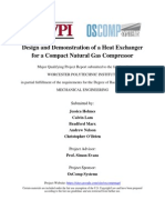 Design and Demonstration of a Simple Heat Exchanger for Natural Gas Compressor