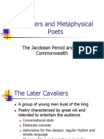 Cavaliers and Metaphysical Poets