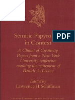 Semitic Papyrology
