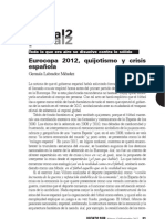 Eurocopa 2012, quijotismos y crisis española.