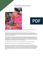 Two Key Issues Should Be Addressed- Vijayamma