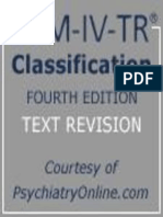 DSM IV TR Classification