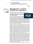 Management Le Talent d'Achille de l'Ingenieur