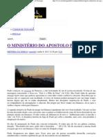 O MINISTÉRIO DO APOSTOLO PAULO _ Portal da Teologia.pdf