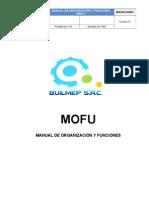 Bm-dg-m-001 Mofu - Manual de Organizacion y Funciones
