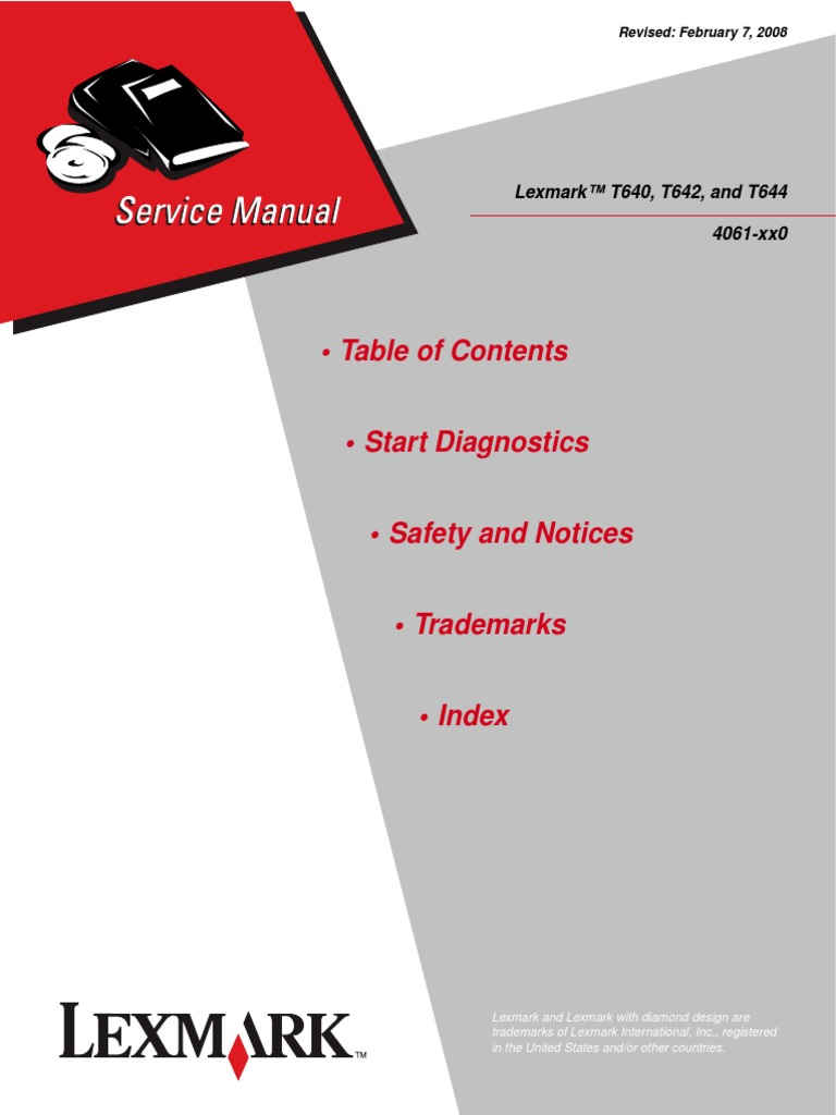 lexmark t644 service manual