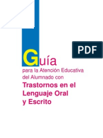 Guia Para La Atencion Educativa Del Alumnado Con Trastornos en El Lenguaje Oral y Escrito