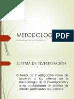 1. El Tema de Investigación