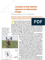 2006. Improvement of Soil Nutrient Management via Information Technology