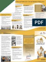 Cuatriptico Plan Familiar de Protección Civil