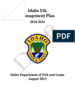 Idaho Fish and Game Elk Management Plan Draft 08.21.2013