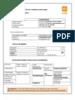 Criterios de clasificación de variables en psicología