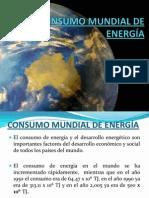 CONSUMO MUNDIAL DE ENERGÍA