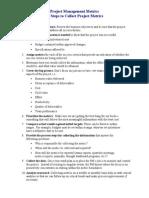 10 Steps Metrics