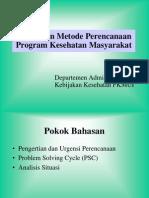 Proses dan Metode Perencanaan Program Kesehatan Masyarakat.ppt
