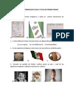 Examen de Formacion Civica y Etica de Primer Grado