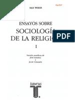 Ensayos sobre Sociología de la Religión Max Weber