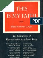 Pitirim Sorokin - This is My Faith (1956)