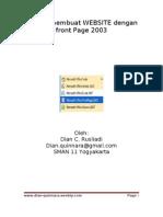 Belajar Membuat Website Dengan Front Page 2003