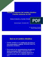 Causas e Impactos Del CC Emisiones GEI