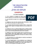 LEY DE GRAVITACI€¦ÓN UNIVERSAL Y LEYES DE KEPLER
