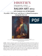 Australian Art Sale - Drysdale's 'Old Larsen' and Glover's Colonial Masterpiece Among the Star Lots Offered in September