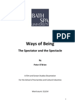 Ways of Being - The Spectator and the Spectacle - A Theoretical Dissertation - Digital Copy