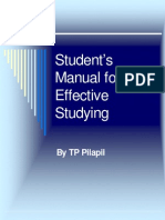 Student's Manual for Effective Studying