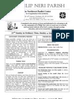 Bulletin for August 25, 2013