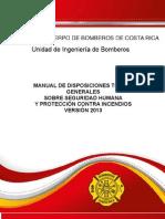 Manual de Disposiciones Tecnicas 2013-Bomberos Costa Rica