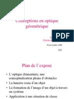 Conceptions Optique Geometrique