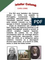 Cristofor Columb- Istorie