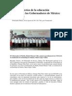 20-08-2013 NSS Oaxaca - Los nuevos retos de la educación hermanan a los Gobernadores de México