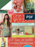 One-Yard Wonders (brochure)
