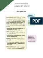 Analizando Un Texto Instructivo