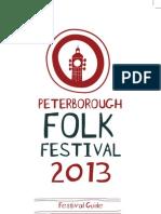 Peterborough Folk Festival 2013 Programme