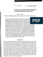 Electromagnetic Disturbances Associated With Earthquakes - Jse_04_2_parrot