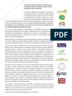 Comunicado de Prensa. 22 de Agosto.