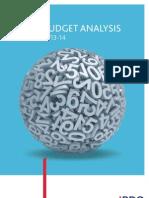 BDO Budget Analysis 2013-14