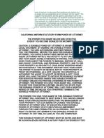 California Uniform Statutory Form Power of Attorney _Immediate www.gazhoo.com