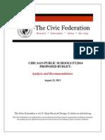 2014 Chicago Public Schools Budget Analysis